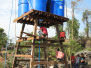 Water tanks being built